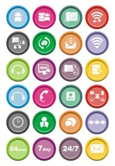 call center round icon sets