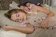 Trois jeunes filles dormir