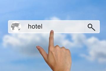 hotel on search bar