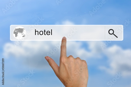 hotel on search bar
