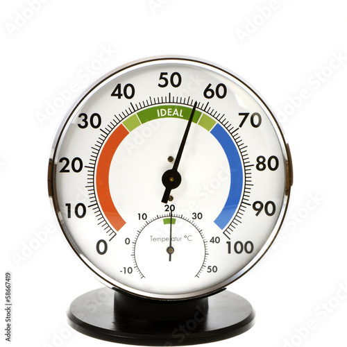 Leinwanddruck Bild Hygrometer and Thermometer
