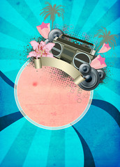 Retro summer party background