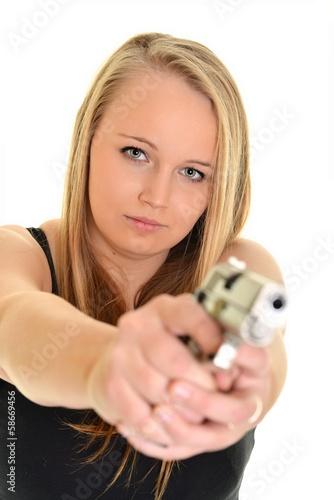 Woman Holding Gun © muro