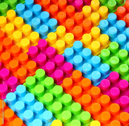colorful geometric background of building bricks