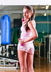 girl in sport hall