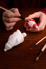 Making of Christmas decoration