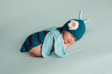 Newborn Baby Girl Wearing a Dragonfly Costume