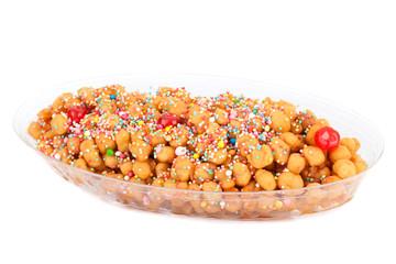 Tray With Struffoli - Neapolitan Dessert