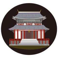 仏教の寺 a temple