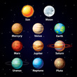 Glossy planets vector set - 58674273