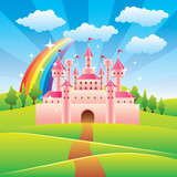 Fairy tale castle vector illustration