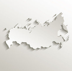 Russia map card paper 3D natural