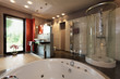 Luxury bathroom with bath and shower