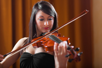 Woman playing viola