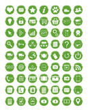 Set de iconos para Web en color verde