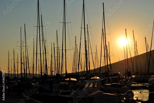 Sunset at the harbour 02