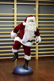lively Santa Claus fitness training