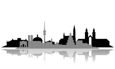 München ~ Stadt ~ City ~ Skyline ~ Horizont ~ Silhouette