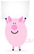 Schwein mit Schild