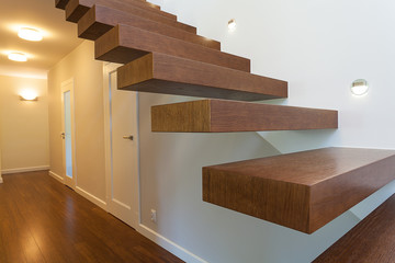 Bright space - wooden steps