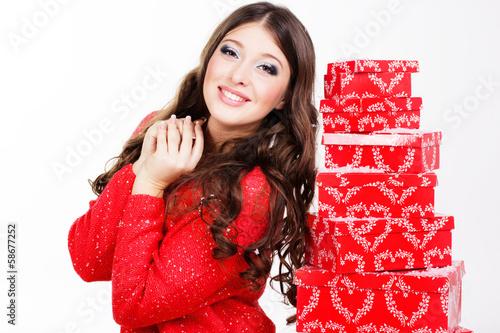 woman holding magic box