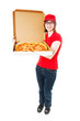 Cute Teenage Pizza Girl