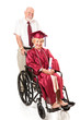 Disabled Senior Graduate and Spouse