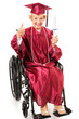 Senior Graduate in Wheelchair - Thumbs Up