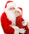 Cute Little Boy With Santa