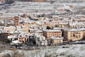 Segovia in a snowy day (Spain)