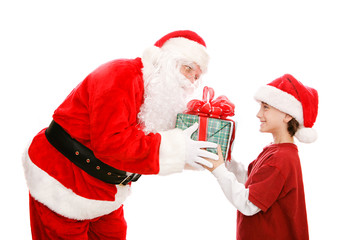 Little Boy Gets Gift From Santa