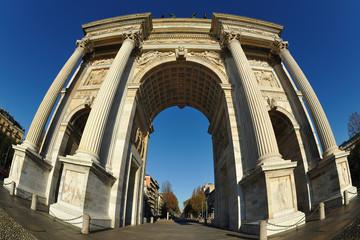 Milano Arco della Pace  - fish eye