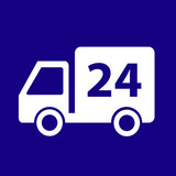 24-Hour Delivery Truck Icon