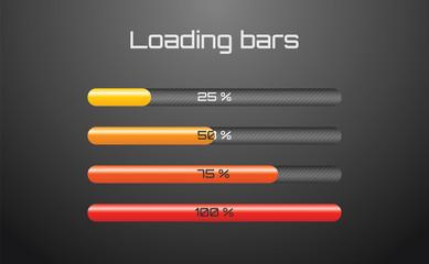 Bright loading bars