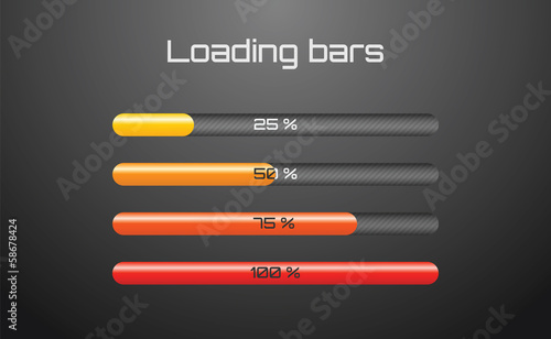 Bright loading bars