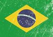 Drapeau Brésilien vintage