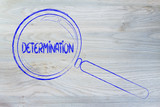 finding determination, magnifying glass design poster