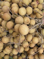 Longan fruit at the greengrocer at the market place