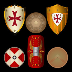 Shields from the Middle Ages black