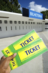 Soccer Fan Holds Two World Cup 2014 Brazil Tickets