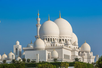 Sheikh Zayed Grand Mosque in Abu Dhabi, the capital city of Unit