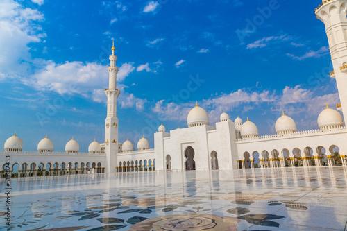 Foto op Canvas Bedehuis Abu Dhabi Sheikh Zayed White Mosque