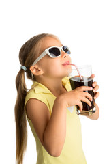 Girl Drinking Cola