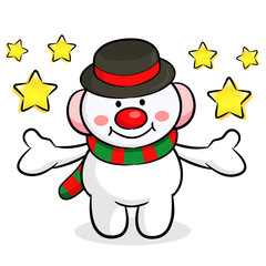 The Snowman mascot has been welcomed with both hands. Christmas