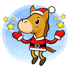 The Horse mascot has been welcomed with both hands. Christmas Ch
