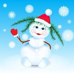 Beautiful snowgirl