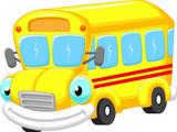 Fototapety School bus cartoon
