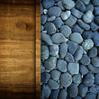 pebble and wood board background