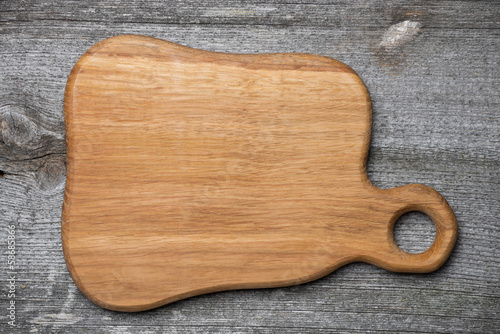 figured wooden cutting board, concept, a place for the recipe