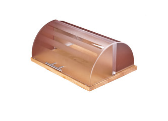 modern plastic   bread box  isolated
